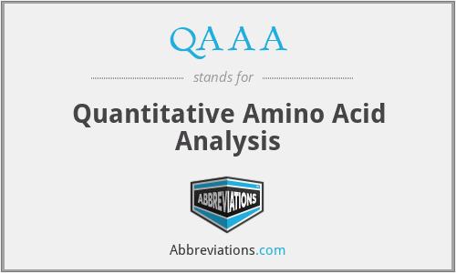 QAAA - Quantitative Amino Acid Analysis