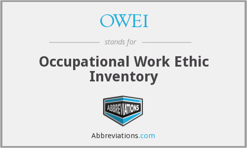 OWEI - Occupational Work Ethic Inventory