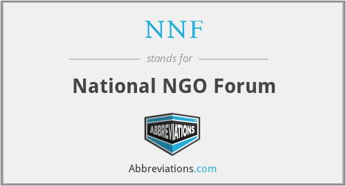 NNF - National NGO Forum