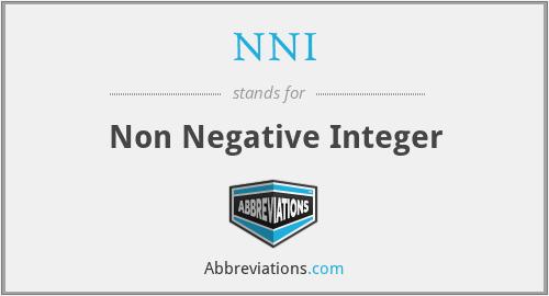 NNI - Non Negative Integer
