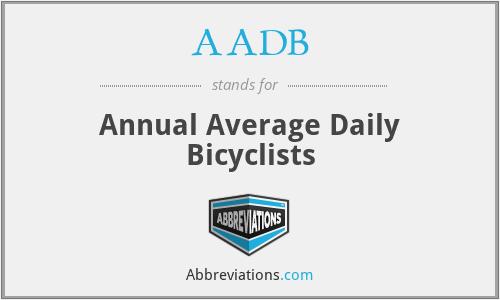 AADB - Annual Average Daily Bicyclists