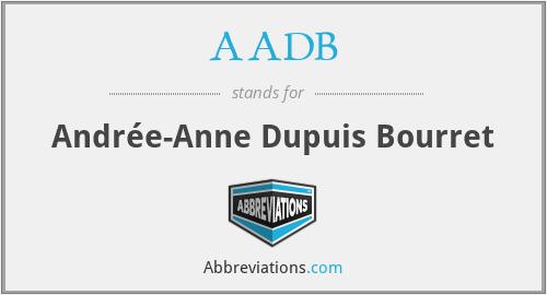 AADB - Andrée-Anne Dupuis Bourret