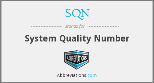SQN - System Quality Number