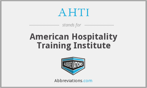 What does AHTI stand for?