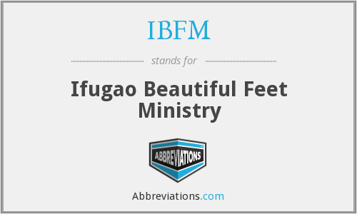 IBFM - Ifugao Beautiful Feet Ministry