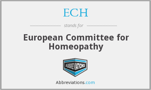 ECH - European Committee for Homeopathy