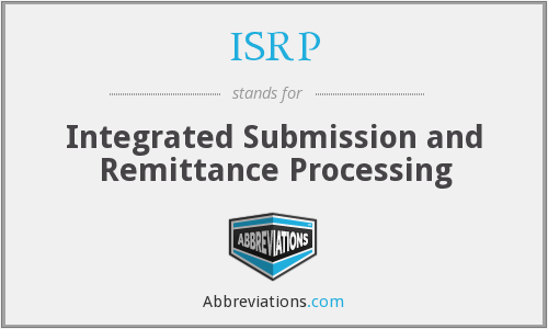 What does ISRP stand for?