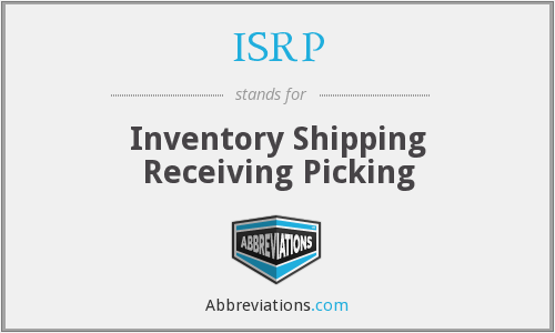 ISRP - Inventory Shipping Receiving Picking