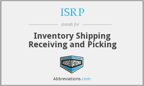 ISRP - Inventory Shipping Receiving and Picking