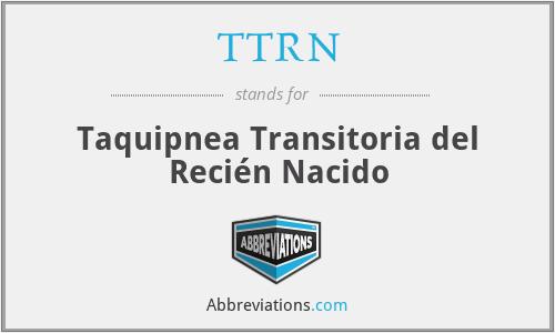 TTRN - Taquipnea Transitoria del Recién Nacido