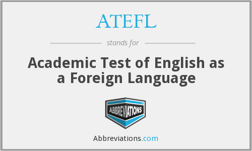 What does ATEFL stand for?