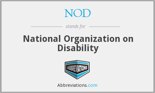 NOD - National Organization on Disability