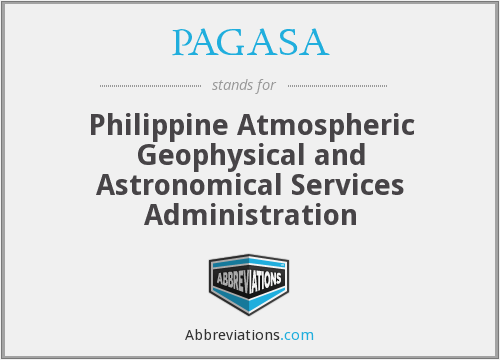 What does PAGASA stand for?