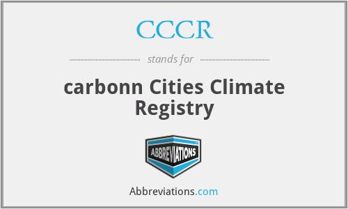 CCCR - carbonn Cities Climate Registry