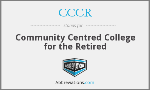 What does CCCR stand for?