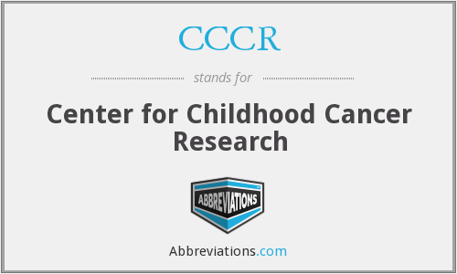 CCCR - Center for Childhood Cancer Research