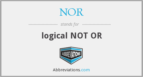What does NOR stand for?