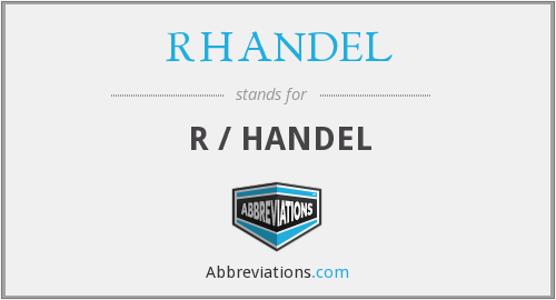 What does RHANDEL stand for?