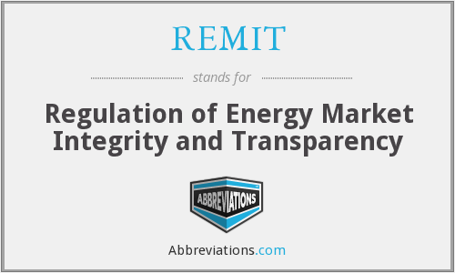 What does REMIT stand for?
