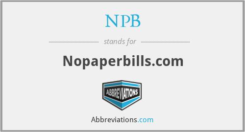 NPB - Nopaperbills.com
