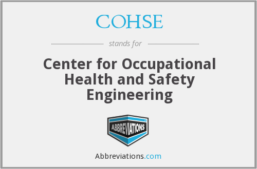 What does COHSE stand for?
