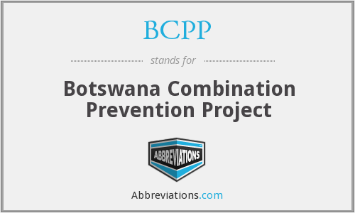 BCPP - Botswana Combination Prevention Project
