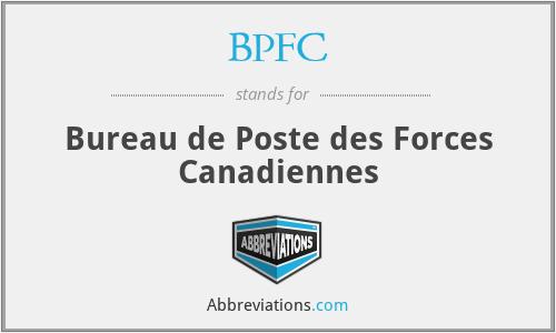 BPFC - Bureau de Poste des Forces Canadiennes