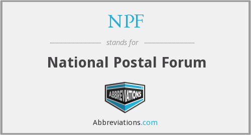 NPF - National Postal Forum