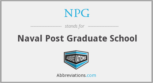 NPG - Naval Post Graduate School