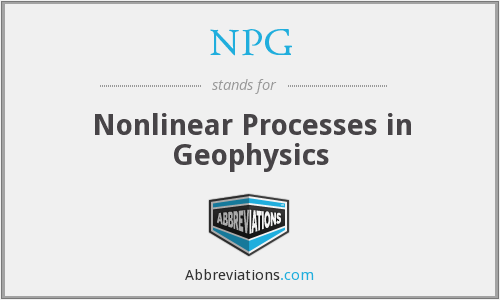 NPG - Nonlinear Processes in Geophysics
