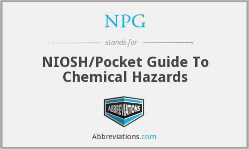 NPG - NIOSH/Pocket Guide To Chemical Hazards