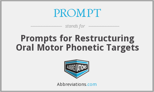 PROMPT - Prompts for Restructuring Oral Motor Phonetic Targets