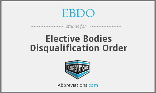 What does EBDO stand for?