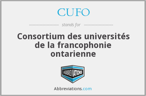 What does CUFO stand for?