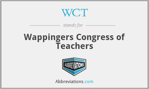 WCT - Wappingers Congress of Teachers