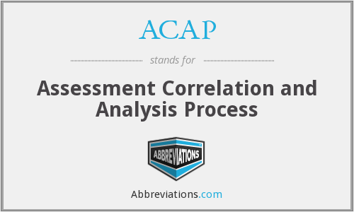 ACAP - Assessment Correlation and Analysis Process
