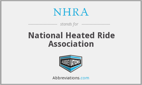 What does NHRA stand for?