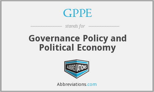 GPPE - Governance Policy and Political Economy