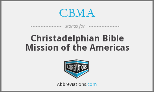 What does CBMA stand for?