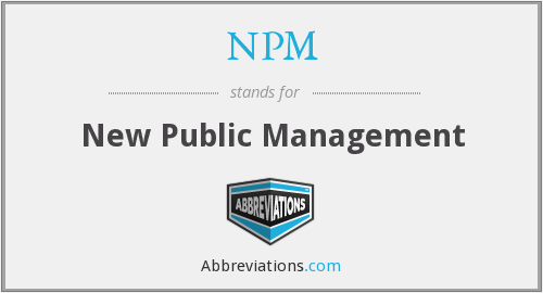 NPM - New Public Management