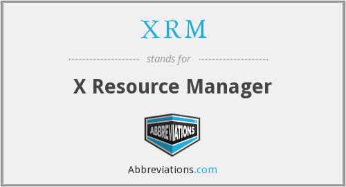 XRM - X Resource Manager