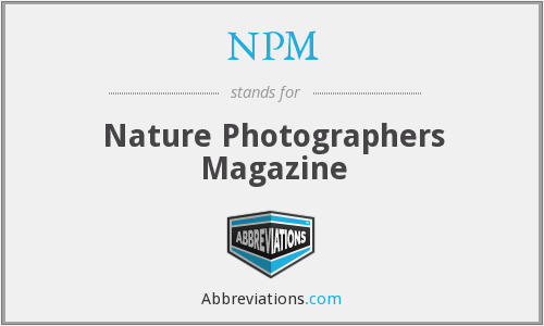 NPM - Nature Photographers Magazine