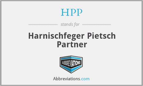 HPP - Harnischfeger Pietsch Partner