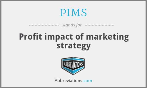 Profit Impact Of Marketing Strategy (PIMS)