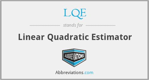 LQE - Linear Quadratic Estimator