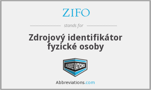 What does ZIFO stand for?