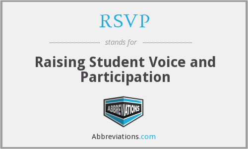 RSVP - Raising Student Voice and Participation