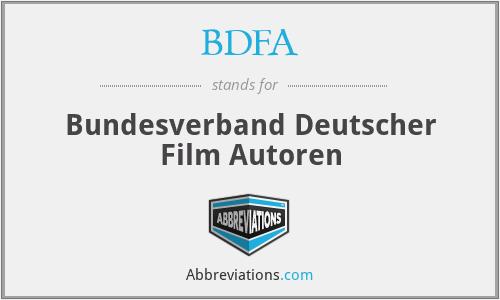 BDFA - Bundesverband Deutscher Film Autoren
