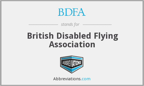 BDFA - British Disabled Flying Association