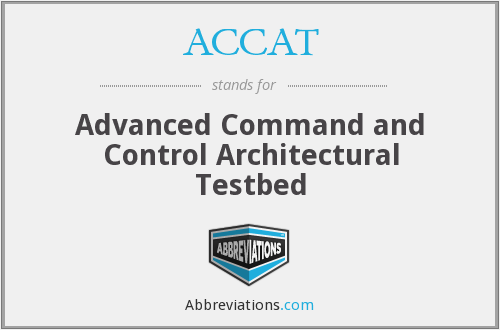 ACCAT - Advanced Command and Control Architectural Testbed